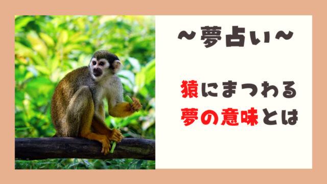 猿 夢占い