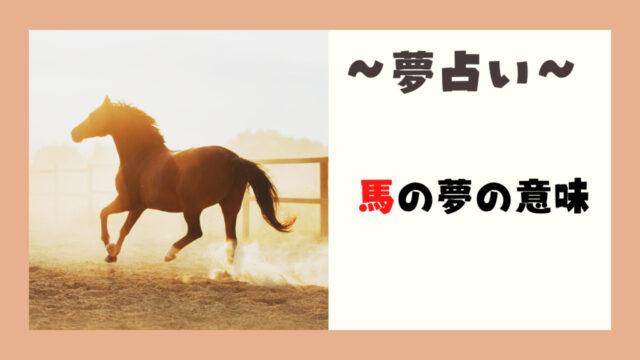 夢占い 馬 意味