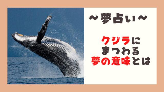 夢占いクジラ